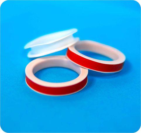 Joint elastomère et composant PTFE assemblés