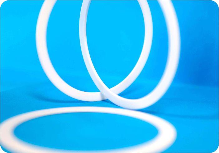mit glasfaser gefulltes ptfe compound